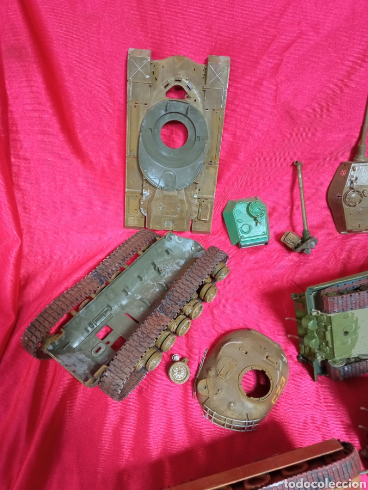Maquetas: Lote 9 tanques carros de combate PANTHER. KING TIGER. JAGD TIGER. 1/43 plástico metal - Foto 10 - 255938540