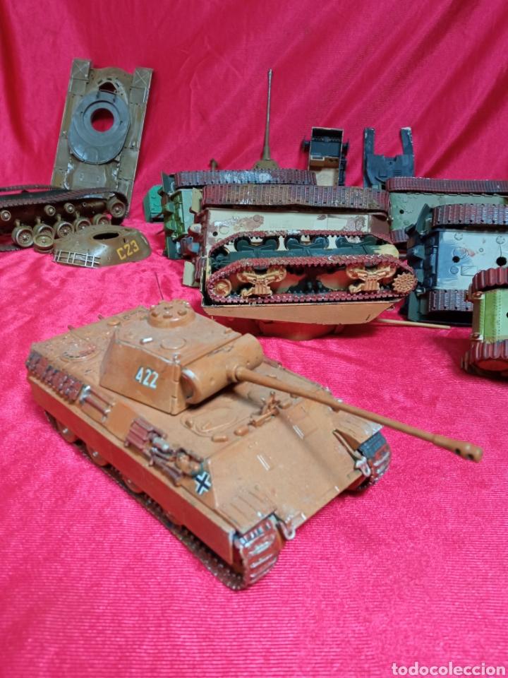Maquetas: Lote 9 tanques carros de combate PANTHER. KING TIGER. JAGD TIGER. 1/43 plástico metal - Foto 16 - 255938540