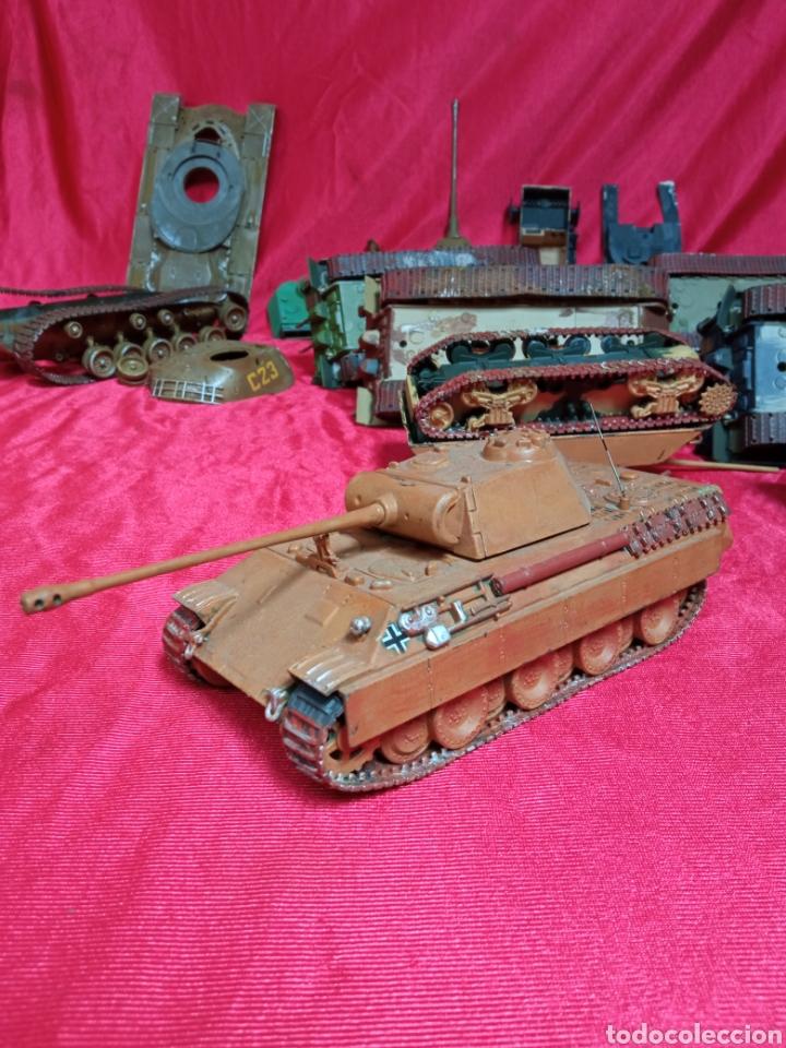 Maquetas: Lote 9 tanques carros de combate PANTHER. KING TIGER. JAGD TIGER. 1/43 plástico metal - Foto 17 - 255938540