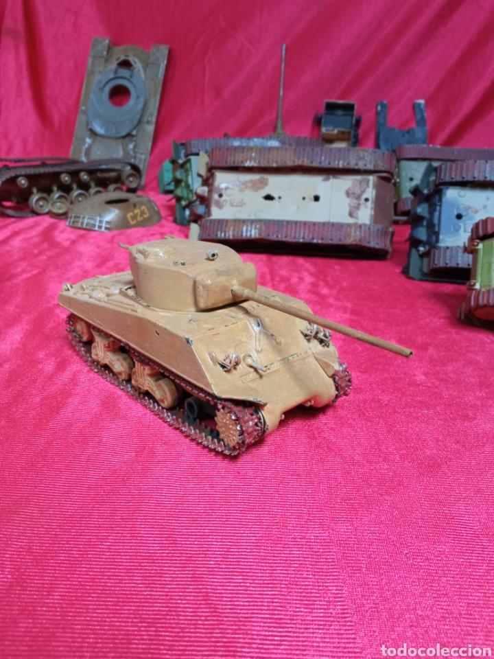 Maquetas: Lote 9 tanques carros de combate PANTHER. KING TIGER. JAGD TIGER. 1/43 plástico metal - Foto 18 - 255938540