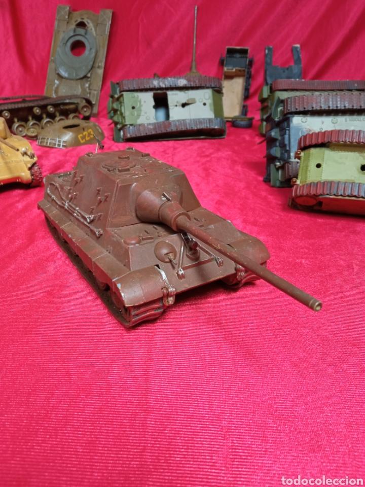 Maquetas: Lote 9 tanques carros de combate PANTHER. KING TIGER. JAGD TIGER. 1/43 plástico metal - Foto 21 - 255938540
