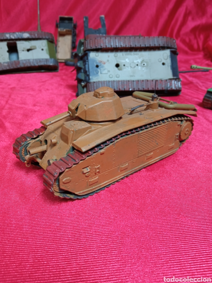 Maquetas: Lote 9 tanques carros de combate PANTHER. KING TIGER. JAGD TIGER. 1/43 plástico metal - Foto 23 - 255938540