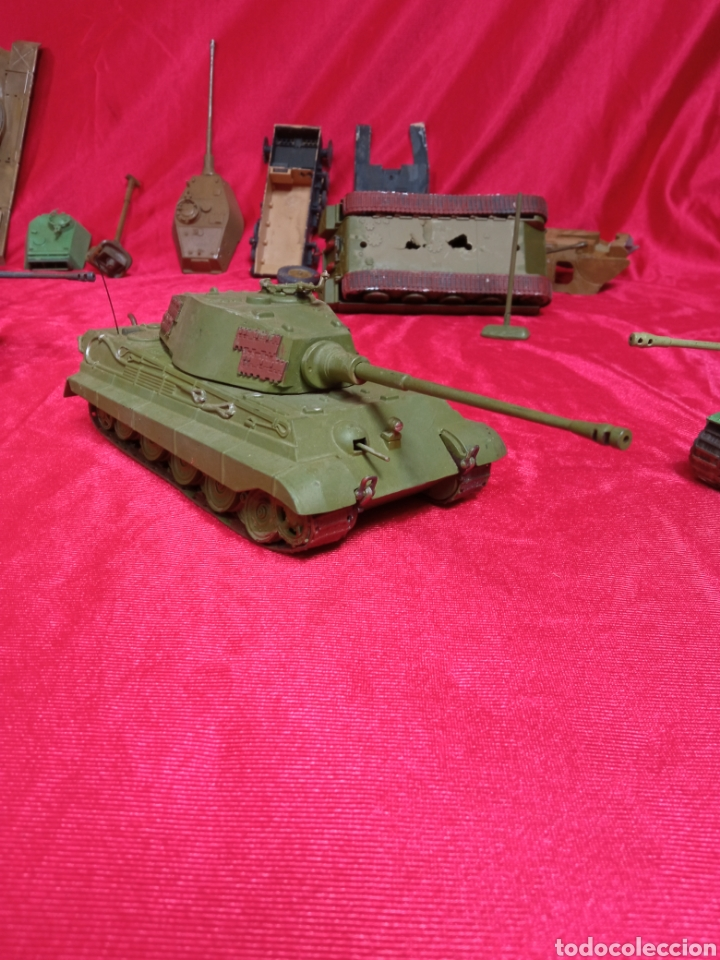 Maquetas: Lote 9 tanques carros de combate PANTHER. KING TIGER. JAGD TIGER. 1/43 plástico metal - Foto 27 - 255938540