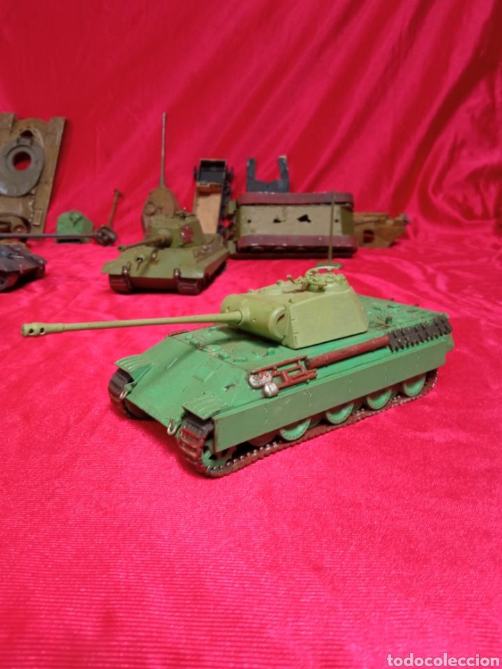 Maquetas: Lote 9 tanques carros de combate PANTHER. KING TIGER. JAGD TIGER. 1/43 plástico metal - Foto 30 - 255938540