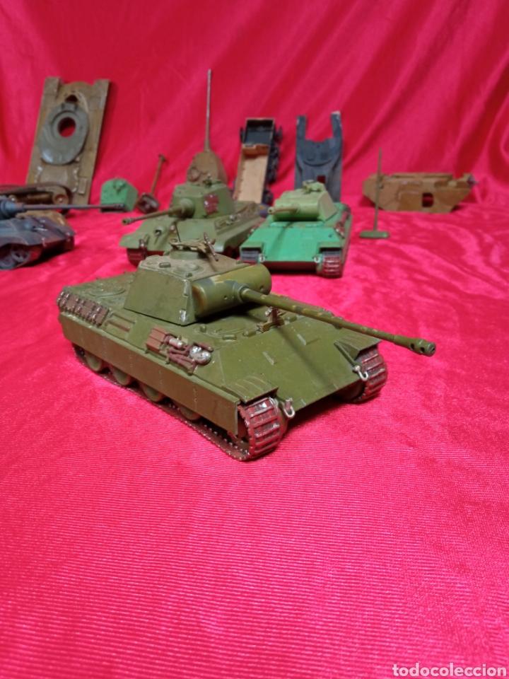 Maquetas: Lote 9 tanques carros de combate PANTHER. KING TIGER. JAGD TIGER. 1/43 plástico metal - Foto 34 - 255938540