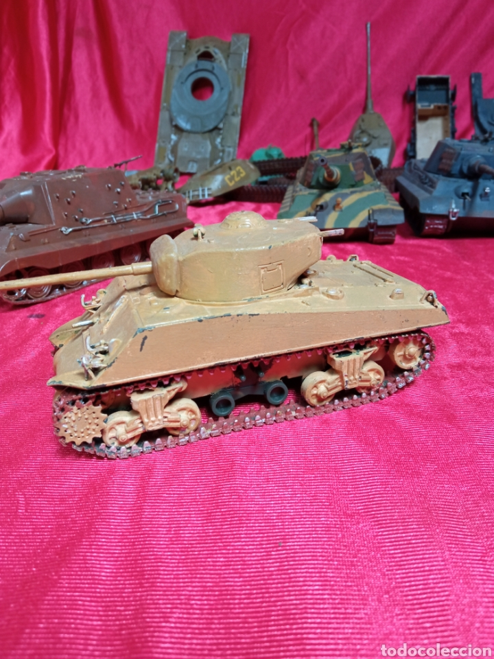 Maquetas: Lote 9 tanques carros de combate PANTHER. KING TIGER. JAGD TIGER. 1/43 plástico metal - Foto 36 - 255938540