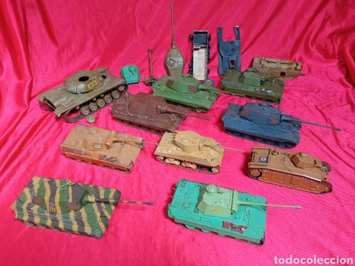 LOTE 9 TANQUES CARROS DE COMBATE PANTHER. KING TIGER. JAGD TIGER. 1/43 PLÁSTICO METAL (Juguetes - Modelismo y Radiocontrol - Maquetas - Militar)