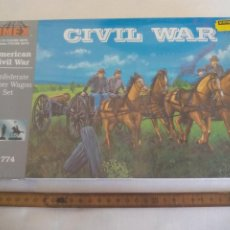 Maquetas: AMERICAN CIVIL WAR IMEX 1/32 CONFEDERATE LIMBER WAGON SET. NO. 774. PRECINTADO. GUERRA CIVIL USA. Lote 255945900