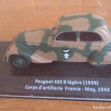 Maquetas: ALTAYA: COCHES MILITARES DE LA 2ª GUERRA MUNDIAL , 1/43 : PEUGEOT 402 B LEGERE ( 1939 ). Lote 257292780