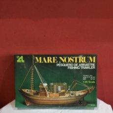 Maquetas: ARTESANIA LATINA: MARE NOSTRUM (PESQUERO DE ARRASTRE) ESCALA - 1:35. Lote 257797255