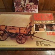 Maquettes: MAQUETA DEL CARROMATO DEL RODEO CHUCK WAGON 1887 DE ARTESANÍA LATINA. Lote 258961975