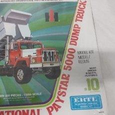 Maquetas: INTERNATIONAL PAYSTAR 5000 DUMP TRUCK SCALE 1/25 ERTL. Lote 259016020