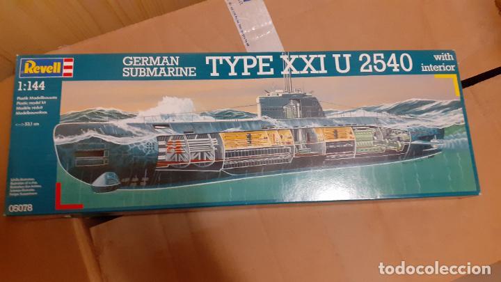 U 2540. GERMAN SUBMARINE TYPE XXI. REVELL 1/144 (Juguetes - Modelismo y Radiocontrol - Maquetas - Barcos)
