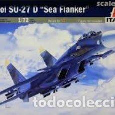 Maquetas: SUKHOI SU-27 D FLANKER (SIN CAJA) 1:72 ITALERI 197 MAQUETA AVIO. Lote 260312335