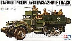 M3A2 HALF TRACK (SIN CAJA) U.S. ARMORED PERSONNEL CARRIER 1:35 TAMIYA 35070 MAQUETA CARRO SEMIORUGA (Juguetes - Modelismo y Radiocontrol - Maquetas - Militar)