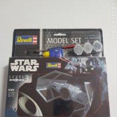 Maquettes: STAR WARS LEVEL 3 DARTH VADERS MODEL SET REVELL ESTADO NUEVO. Lote 261127200