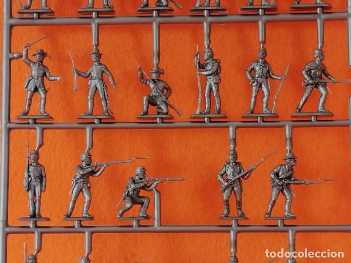 Maquetas: SOLDADITOS DE LA MARCA ITALERI ESCALA 1:72 -INFANTERIA CONFEDERADA - Foto 9 - 261280705