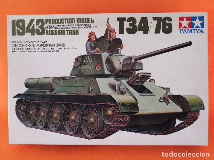 TANQUE RUSO T34/76 MARCA TAMIYA ESCALA 1/35 (Juguetes - Modelismo y Radiocontrol - Maquetas - Militar)