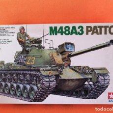 Maquetas: TANQUE U.S. M48A3 PATTON -MARCA TAMIYA ESCALA 1/35. Lote 261286275