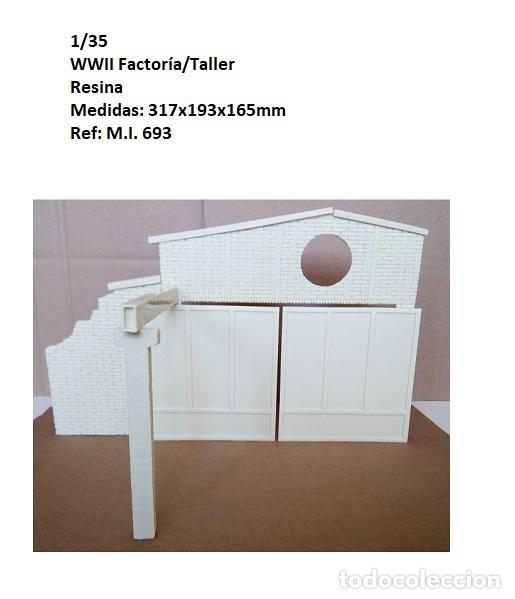 WWII FACTORIA/TALLER/GARAJE 1/35 RESINA 10 PIEZAS BUILDING RUINS (Juguetes - Modelismo y Radiocontrol - Maquetas - Militar)