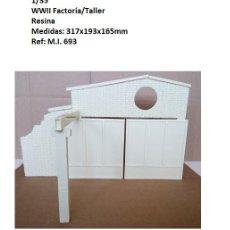 Maquetas: WWII FACTORIA/TALLER/GARAJE 1/35 RESINA 10 PIEZAS BUILDING RUINS. Lote 261288950
