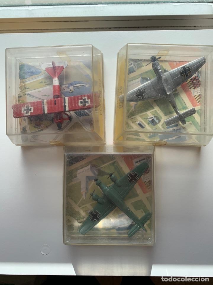 LOTE 3 AVIONES DE METAL MARCA PLAYME AÑOS 70 EN CAJA - MODELOS STUKA, FOKKER D7 Y JUNKERS (Juguetes - Modelismo y Radio Control - Maquetas - Aviones y Helicópteros)