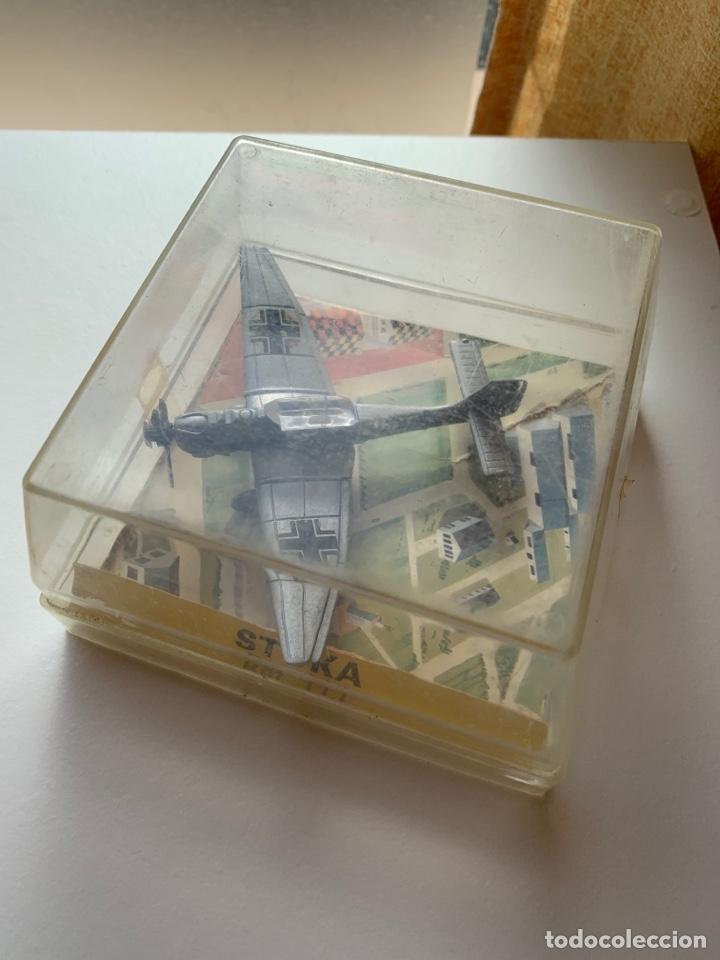 Maquetas: LOTE 3 aviones de metal marca playme años 70 en caja - Modelos STUKA, FOKKER D7 y JUNKERS - Foto 2 - 262036120