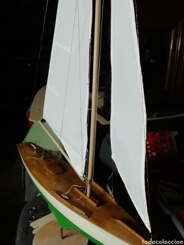 Maquetas: Velero navegable años 60. Marca constructo. Balandro de estanque modelo 70. Pond yatch - Foto 2 - 262256945