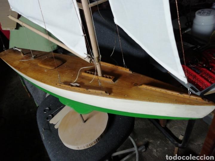 Maquetas: Velero navegable años 60. Marca constructo. Balandro de estanque modelo 70. Pond yatch - Foto 3 - 262256945