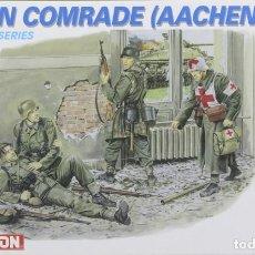 Maquetas: MAQUETA FIGURAS ALEMANES, FALLEN COMRADE (AACHEN 1944) REF. 6119, 1/35, DRAGÓN. Lote 262814115