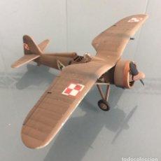 Maquetas: PZL P.11C 1/48 MAQUETA MONTADA Y PINTADA. Lote 262908470