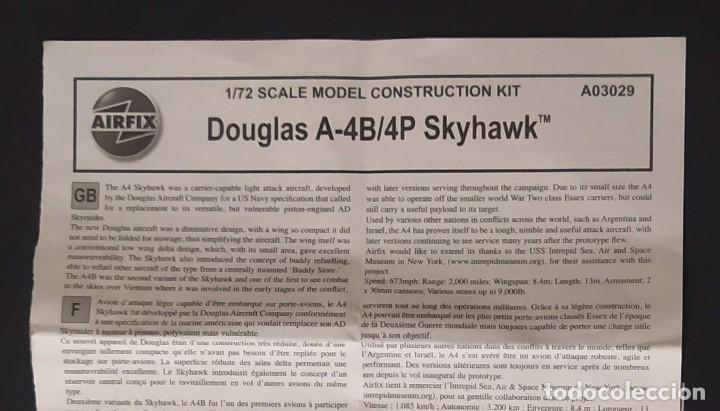 INSTRUCCIONES DE MONTAJE DEL DOUGLAS A-4B/P DE AIRFIX. ESCALA 1/72 (Juguetes - Modelismo y Radio Control - Maquetas - Aviones y Helicópteros)