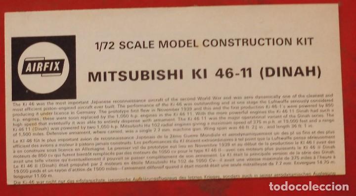 INSTRUCCIONES DE MONTAJE DEL MITSUBISHI KI-46 II DE AIRFIX. ESCALA 1/72 (Juguetes - Modelismo y Radio Control - Maquetas - Aviones y Helicópteros)