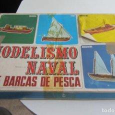 Maquetas: MAQUETA DE MODELISMO NAVAL BARCA DE ARRASTE SERIE BARCAS DE PESCA MARCA ART AMB FUSTA ESCALA 1:34. Lote 263184500