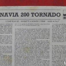 Maquetas: INSTRUCCIONES DE MONTAJE DEL PANAVIA 200 TORNADO DE ESCI. ESCALA 1/72. Lote 263614960