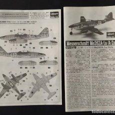 Maquetas: INSTRUCCIONES DE MONTAJE DEL MESSERSCHMITT ME-262 A-1A/A2A DE HASEGAWA. ESCALA 1/72. Lote 263657530