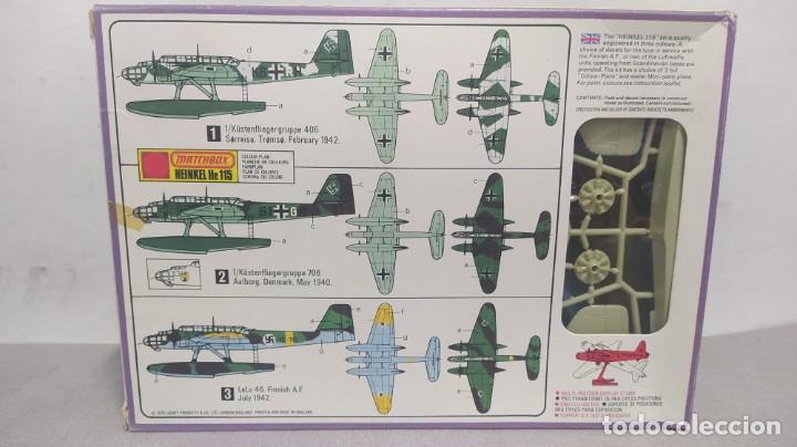 Maquetas: Heinkel He 115 matchbox PK-401. Escala 1/72 .años 70 nuevo - Foto 2 - 263678720