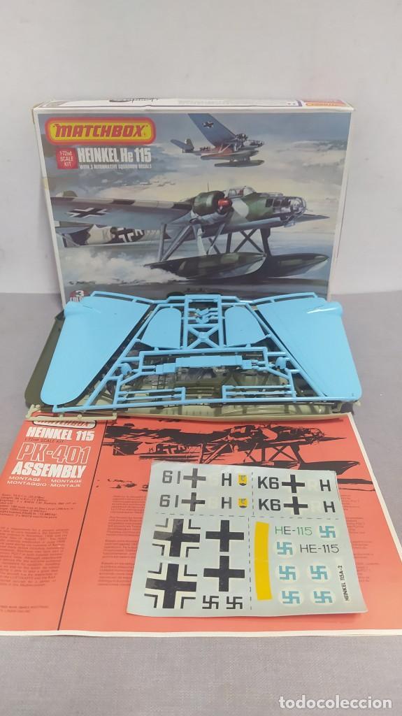 Maquetas: Heinkel He 115 matchbox PK-401. Escala 1/72 .años 70 nuevo - Foto 3 - 263678720