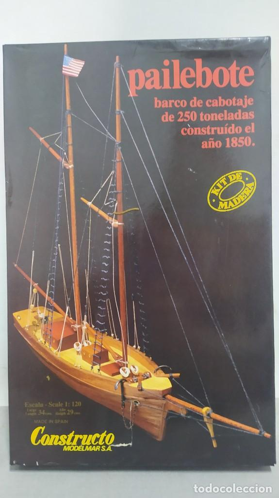PAILEBOTE BARCO DE CABOTAJE DE 250 TN. 1850 DE CONSTRUCTO. MODELMAR S.A. NUEVO. AÑOS 70 (Juguetes - Modelismo y Radiocontrol - Maquetas - Barcos)