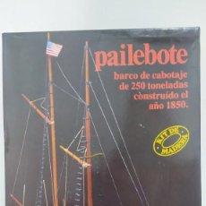 Maquetas: PAILEBOTE BARCO DE CABOTAJE DE 250 TN. 1850 DE CONSTRUCTO. MODELMAR S.A. NUEVO. AÑOS 70. Lote 263738385