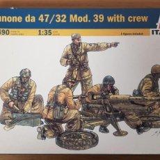 Maquettes: CAÑON 47/32 MOD. 39 WITH CREW REF 6490 DE ITALERI. Lote 265859184