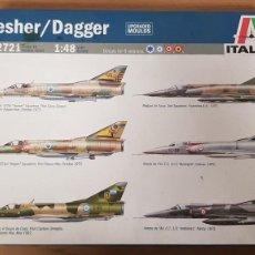 Maquettes: MAQUETA AVION DASSAULT MIRAGE III MODELO NESHER-DAGGER REF 2721 A ESTRENAR DE ITALERI. Lote 265873759