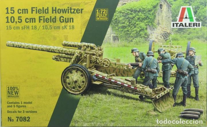 MAQUETA CAÑÓN 15 CM FIELD HOWITZER SFH-18 – 10.5 FIELD GUN SK18, REF. 7072, 1/72, ITALERI (Juguetes - Modelismo y Radiocontrol - Maquetas - Militar)