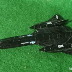 Maquetas: LOTE ANTIGUO AVION DE METAL - SR-71 BLACK BIRD - LONG. 15,5 CMS. Lote 266328313