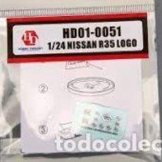 Maquettes: HD - EMBLEMAS NISSAN R35 ACABADO METAL 1/24 HD01-0051. Lote 266966299