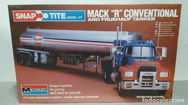 MACK R CONVENTIONAL AND FRUEHAUF TANKER 1/32 MONOGRAM. NUEVO BOLSA PRECINTADO. (Juguetes - Modelismo y Radiocontrol - Maquetas - Coches y Motos)