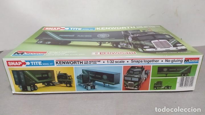 Maquetas: Kenworth Coe aerodyne and 40 van 1/32 Monogram. Nuevo bolsa precintado. - Foto 2 - 267751774