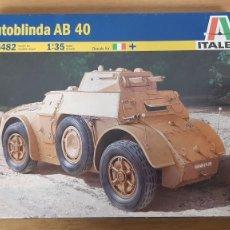 Maquetas: TANQUETA ITALIANA AUTOBLINDA AB40 REF 6482 ESCALA 1:35 DE ITALERI. Lote 267854084