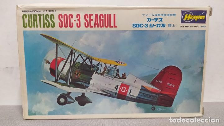 CURTISS SOC-3 SEAGULL 1/72 HASEGAWA. NUEVO TODO PRECINTADO (Juguetes - Modelismo y Radio Control - Maquetas - Aviones y Helicópteros)
