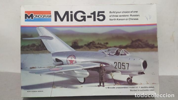 MIG-15 ESCALA 1/48 MONOGRAM. NUEVO (Juguetes - Modelismo y Radio Control - Maquetas - Aviones y Helicópteros)